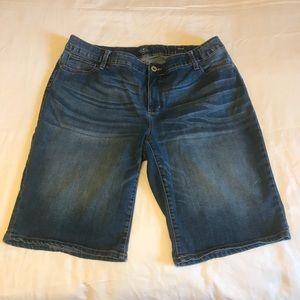 St Johns Bay Denim Bermuda Jean Shorts